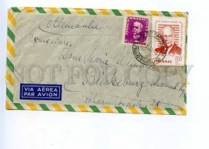 196202 Brazil to GERMANY 1960 year real posted airmail cover