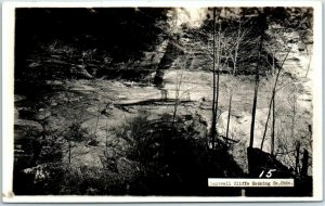 Rockbridge, Ohio RPPC Photo Postcard CANTWELL CLIFFS Hocking Hills State Park