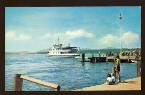 Wolfeboro, New Hampshire/NH Postcard, MV Mt Washington, Lake Winnipesaukee,1967!