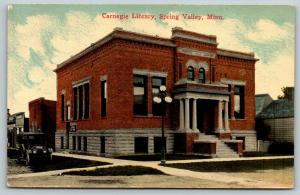 Spring Valley Minnesota~Carnegie Library~Ladies Room Outside~Vintage Car~1915 PC