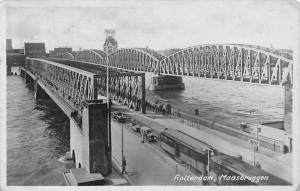 Netherlands Rotterdam Maasbruggen Tramways Trams Rail, Cars, Bridge 1949