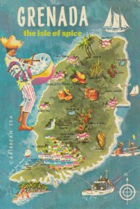 GRENADA , 1960-80 ; Map