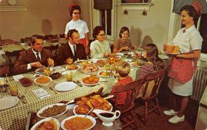 Smoketown PA~Dutchland Farmhouse Restaurant~Served Family-Style~Waitress w/Bread