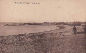 Menastir Beach Sea Bulgaria Bulgarian Antique Postcard
