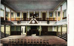 Interior of Faneuil Hall Boston MA Unused Postcard D71