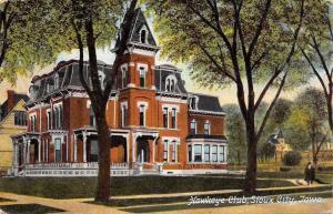 Sioux City Iowa~Hawkeye Club~2nd Empire Mansard Roofs~Dormers 1910 PC