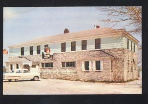 STURGEON BAY DOOR COUNTY WISCONSIN RESTAURANT ADVERTISING POSTCARD OLD CARS