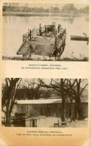 CT - The Tercentenary. 2  Views-- Bissell's Ferry, Windsor and Covered Bridge...
