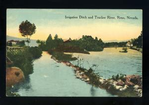 Reno, Nevada/NV Postcard, Irrigation Ditch & Truckee River