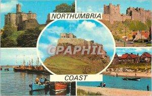 Modern Postcard Northumbria Coast Waworth Castle Bamburgh The Castle Lindisfa...