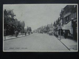 Merseyside Wirral HOYLAKE Market Street shows HOLMES c1927 Postcard by Valentine