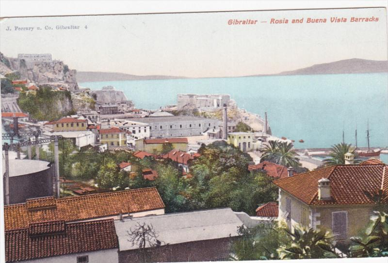 Rosia And Buena Vista Barracks, GIBRALTAR, 1900-1910s