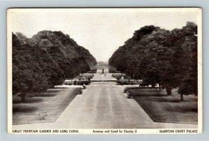 East Molesey, UK-United Kingdom, Hampton Court Palace, Canal, Vintage Postcard