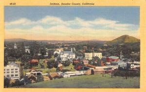 Jackson California Birdseye View Of City Antique Postcard K92319