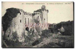 Postcard Old Tonquedec (N C) The Chateau le Pont Levis