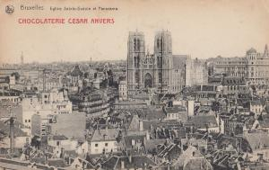 Chocolaterie Cesar Anvers Dutch  Chocolate Factory Vintage Advertising Postcard