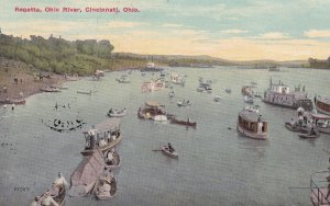 CINCINNATI, Ohio, PU-1911; Ragatta, Ohio River