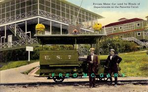 1909 Canal Zone PC: Private Motor Car, Electric Street Railway