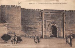 Morocco Meknes, Une Porte Marocaine, pres de Bad Munsour