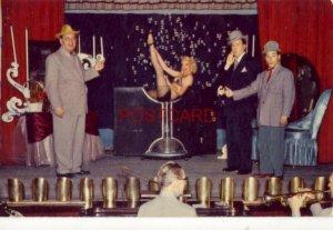 HOTEL LAST FRONTIER, LAS VEGAS, NV. - THE SILVER SLIPPER Woman in martini glass