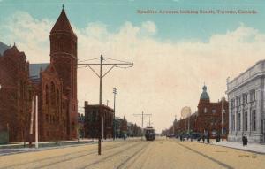 Spadina Avenue,looking South, TORONTO, Ontario, Canada, PU-1918