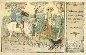 The milkmaid Original Drawings By Randolph Caldecott, Published by F. Warne &...