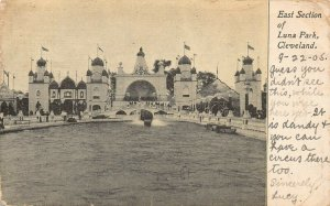 LPS77 CLEVELAND Ohio Luna Park Amusement Park East Section Postcard