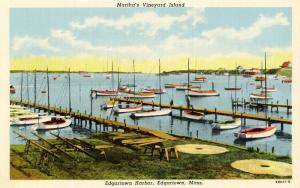 MA - Martha's Vineyard Island. Edgartown. Edgartown Harbor