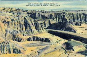 [ Linen ] US So. Dakota Badlands - Why They Are Called The Badlands