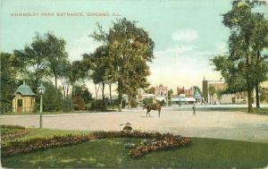 Chicago Illinois Humboldt Park Entrance C-1910 Postcard Knox 5693
