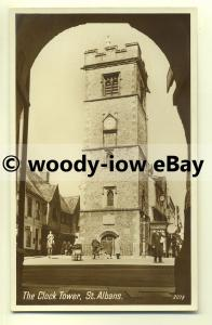 tp8642 - Hertfordshire - View of  the Clock Tower in St. Albans -  postcard