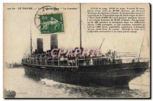 Old Postcard Le Havre The Trasatlantique Lorraine