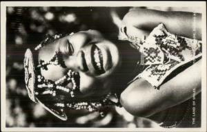 Sweet Cute Little Black Girl Decorative Hair Piece Durban S. Africa  RPPC rpx