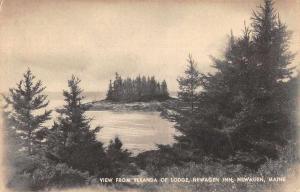Newagen Maine Newagen Inn View from Veranda Vintage Postcard JB627135