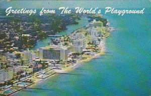 Greetings From The Worlds Playground Miami Beach Florida 1965
