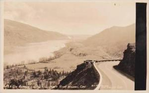 Oklahoma Rowena Loops Columbia River Highway Real Photo RPPC