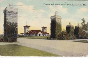 Missouri Kansas City Swope Park Entrance 1910