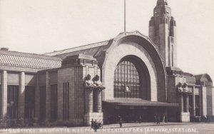 Helsingfors Railway Station Sweden Old Postcard