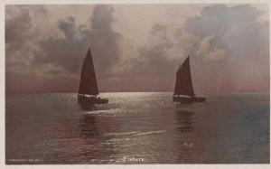 Singapore Christian Fisherman Fishing Boat Cast Rod To Jesus Antique Postcard