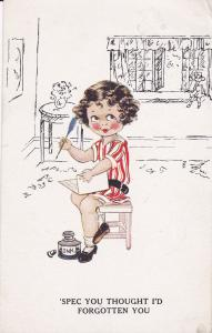 Child with Quill & Ink well , PU-1929