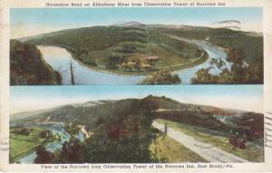 Horseshoe Bend Allegheny River at Narrows Inn East Brady PA Pennsylvania pm1941