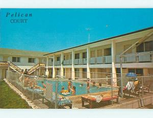 Unused Pre-1980 PELICAN COURT MOTEL & POOL Panama City Beach Florida FL u7349-22