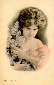 Pretty Girl with Lilacs