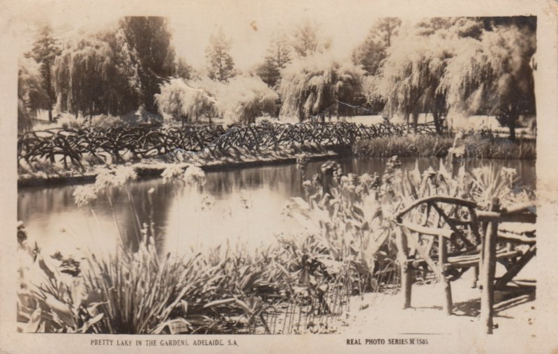 RP: Adelaide , South Australia , 30-40s ; Pretty lake in the Garden