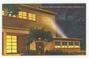 Roanoke Public Library @ Night,Roanoke,VA 1930-40s
