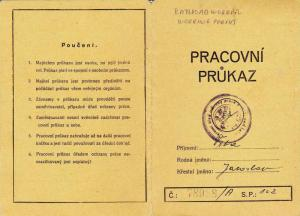 European Railroad Worker Employment Permit Booklet, 1923