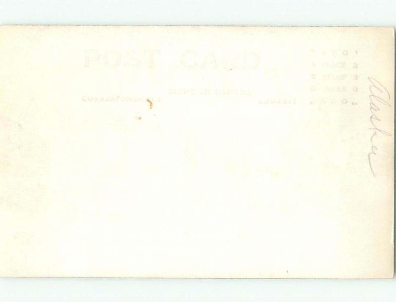 Pre-1949 rppc SCENERY ALONG ALASKA HIGHWAY Province Of British Columbia BC W1054
