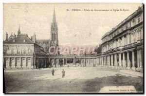 Old Postcard Nancy Government Palace and Church of St Epvre