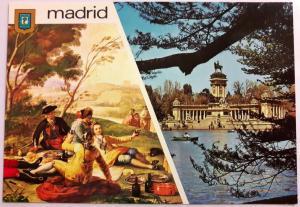 Spain, Madrid, Goya, La Merienda - Estanque del Retiro, Colour Postcard