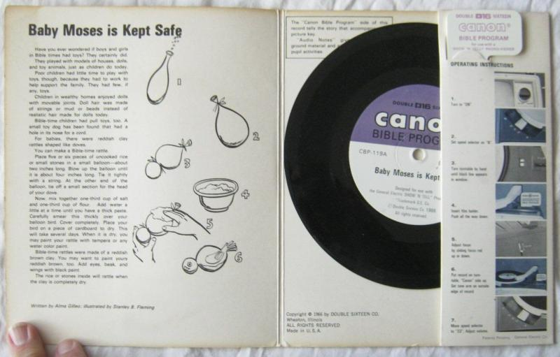 Vintage Baby Moses Is Kept Safe Canon Bible Program For GE Show N Tell 1966